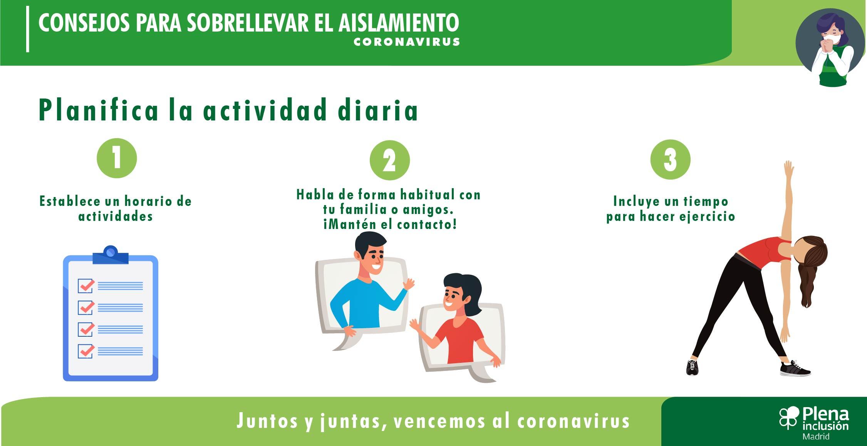 Consejos para sobrellevar el aislamiento por el coronavirus (infografías)