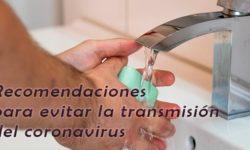 Recomendaciones para prevenir la transmisión del coronavirus