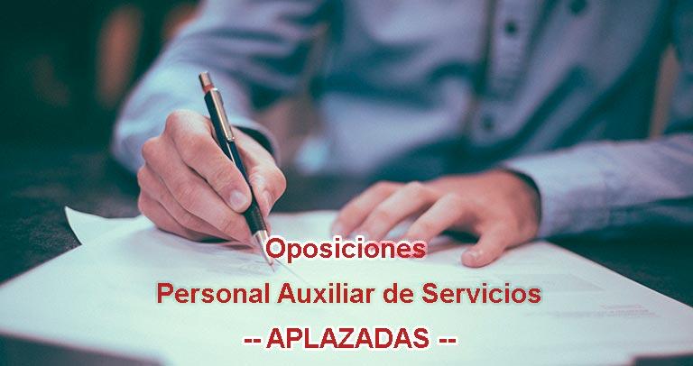 Aplazadas las oposiciones para Personal Auxiliar de Servicios.