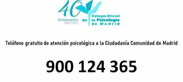 teléofono de la comunidad de madrid