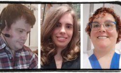 Irene, Carmen y Borja trabajadores con discapacidad intelectual o del desarrollo