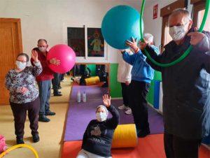 Actividades en el gimnasio durante el confinamiento. Fundación Jicoteca