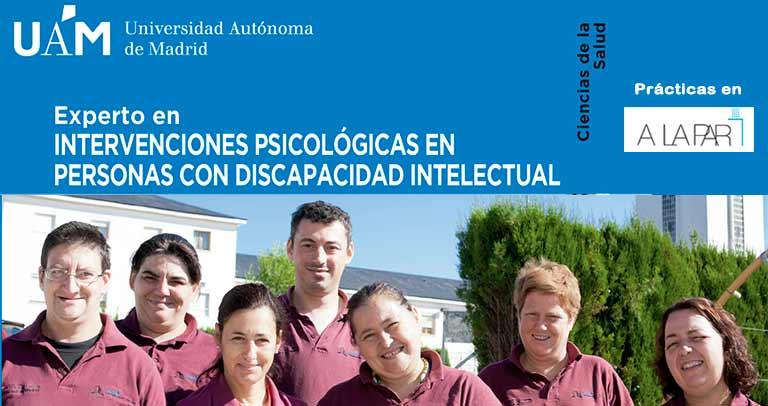 Cartel de Intervenciones psicológicas en personas con discapacidad intelectual