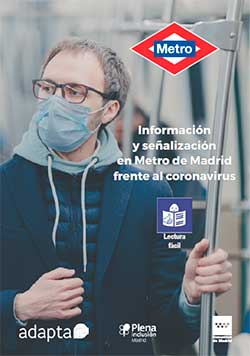 Información y señalización en Metro de Madrid frente al coronavirus