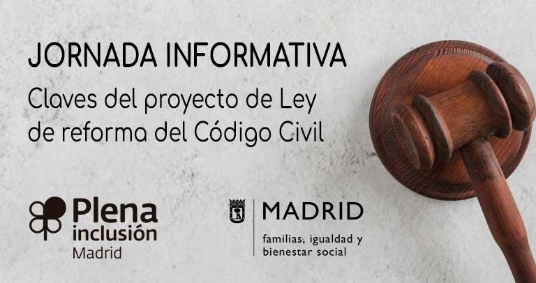 Cartel de la jornada informativa sobre la reforma del Código Civil
