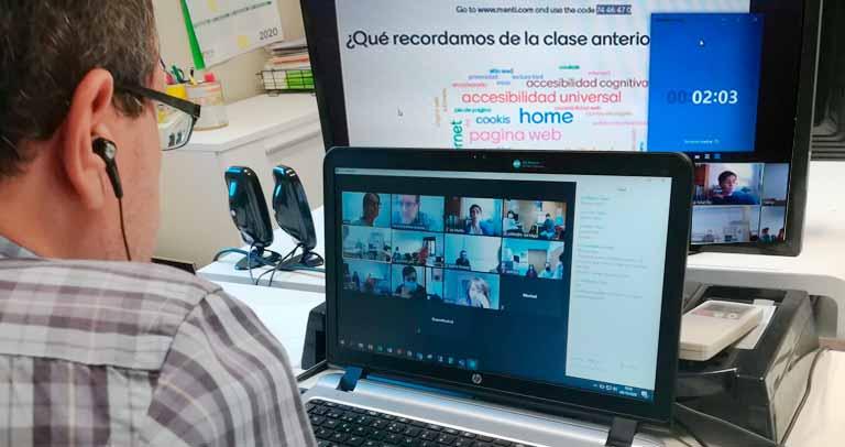 Imagen de la formación online