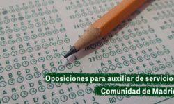Oposiciones para auxiliar de servicios de la Comunidad de Madrid