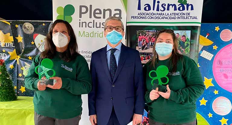 Premio Plena Inclusión Madrid en la categoría de profesionales