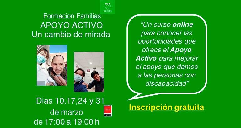Formación de apoyo activo para familias