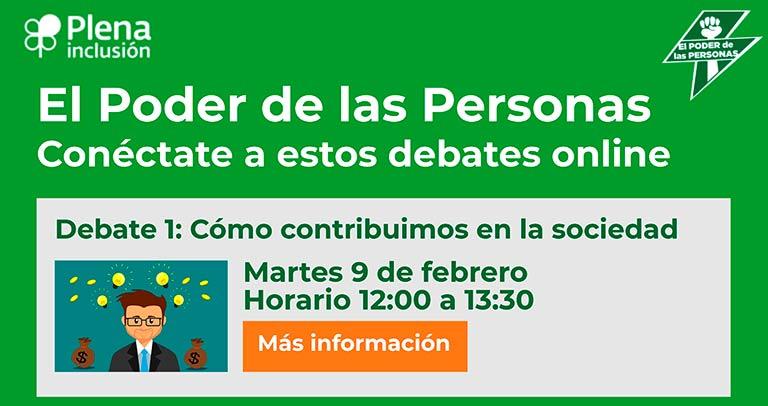 Cartel del primer debate de 'El poder de las personas'