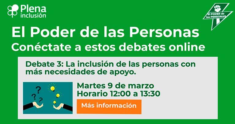 Debate sobre la inclusión de personas con más necesidades de apoyo