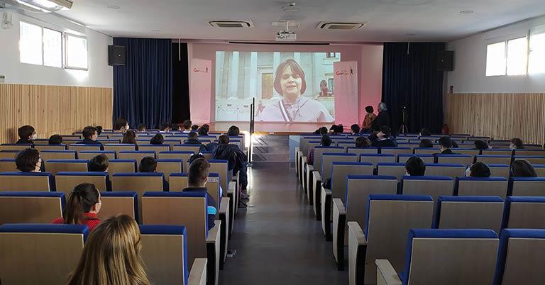 Nerea Cuervo, en su intervención en la Fundación Garrigou.