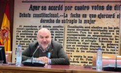 Luis Cayo, presidente de Cermi, durante su comparecencia en el Senado