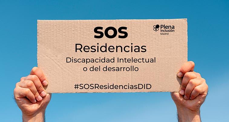 Cartel del SOS de Plena Inclusión Madrid para las elecciones