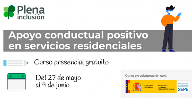Cartel de la formación sobre apoyo conductual positivo en residencias