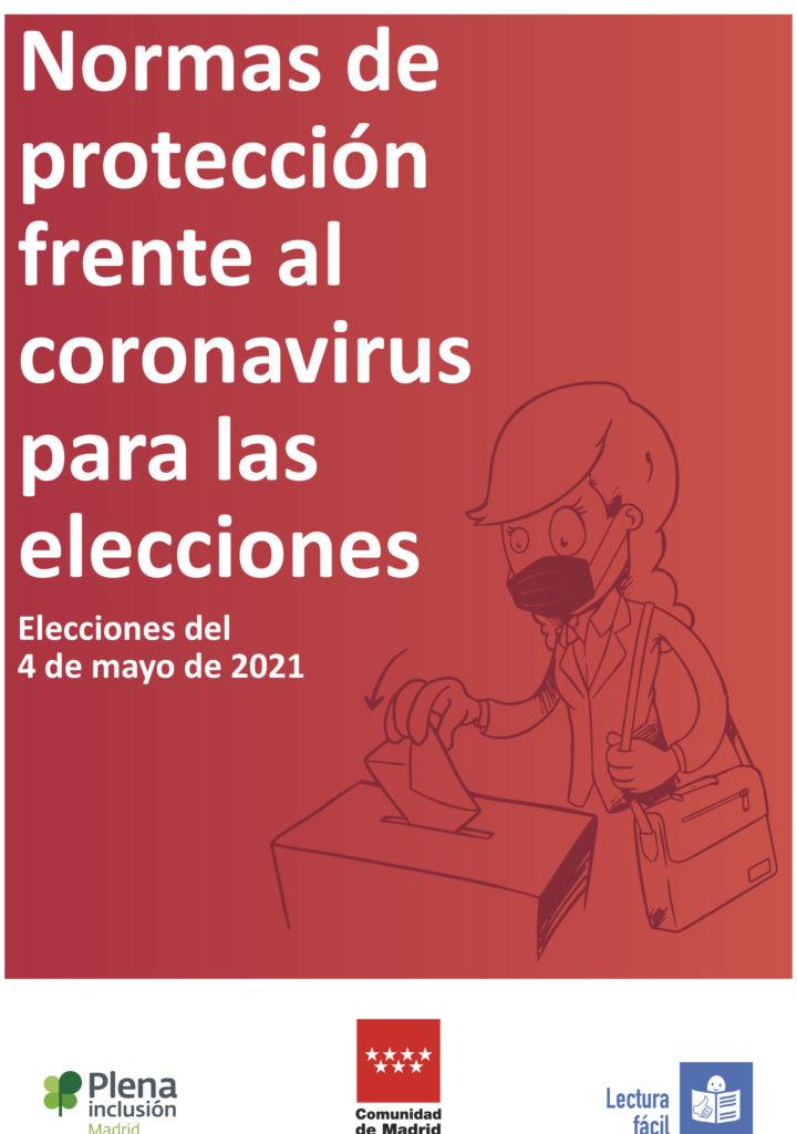 Portada de la guía de prevención ante el coronavirus para las elecciones