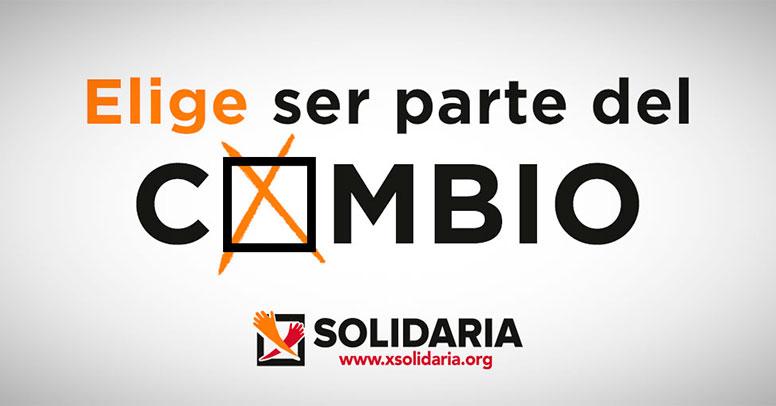 Cartel de la campaña de la X Solidaria