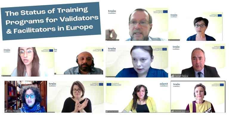 imágenes de pantalla d elos conferenciantes