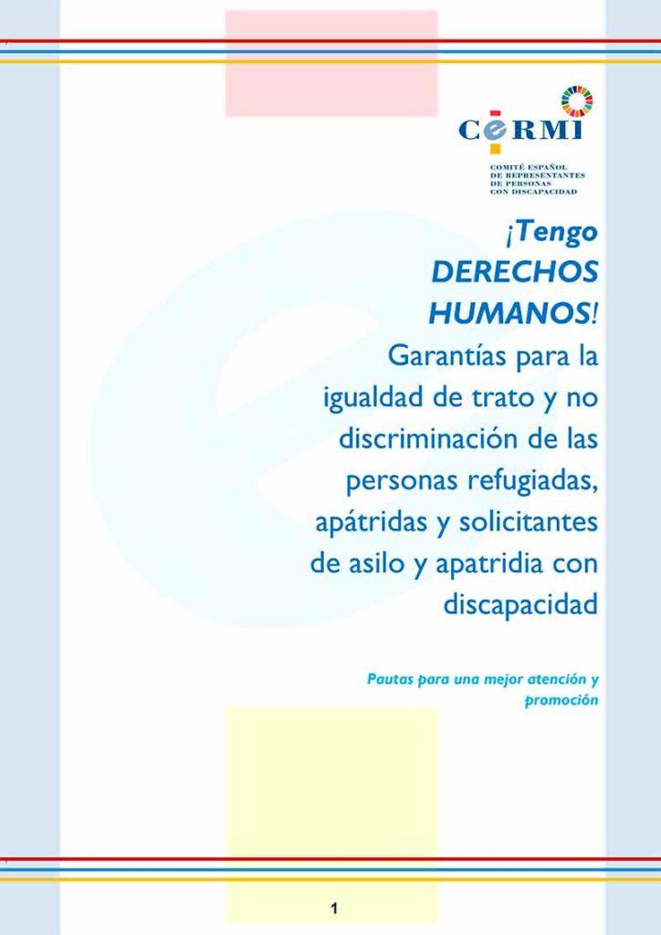 Portada de la guía sobre personas refugiadas con discapacidad