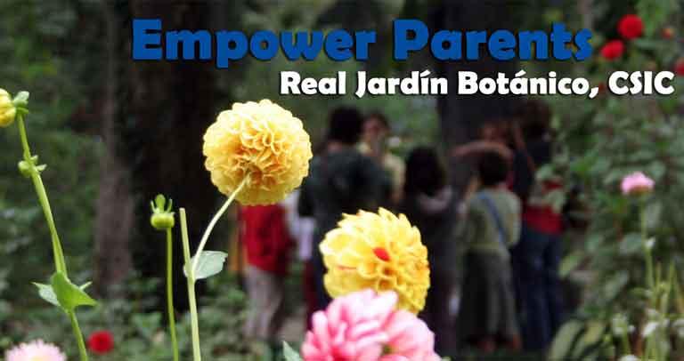 Foto de personas participando en el programa Empower Parents en el Real Jardín Botánico