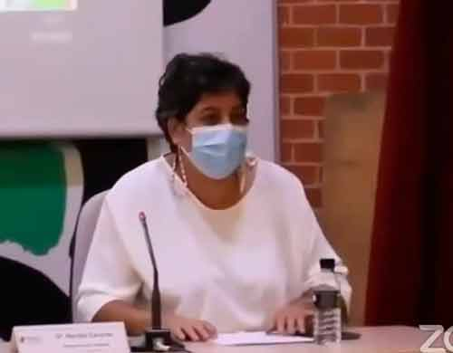 Maribel Cáceres interviene en el encuentro de representantes